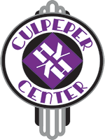 This is the Culpeper Center's Logo.  It is a circular, art deco design.